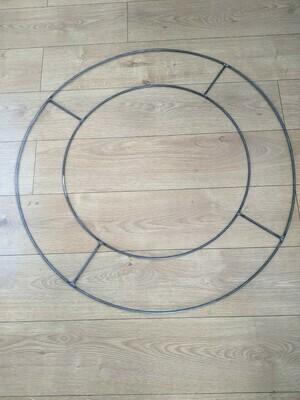 Giant steel flat round wreath base frames 2ft 60cm, 3ft 90cm
