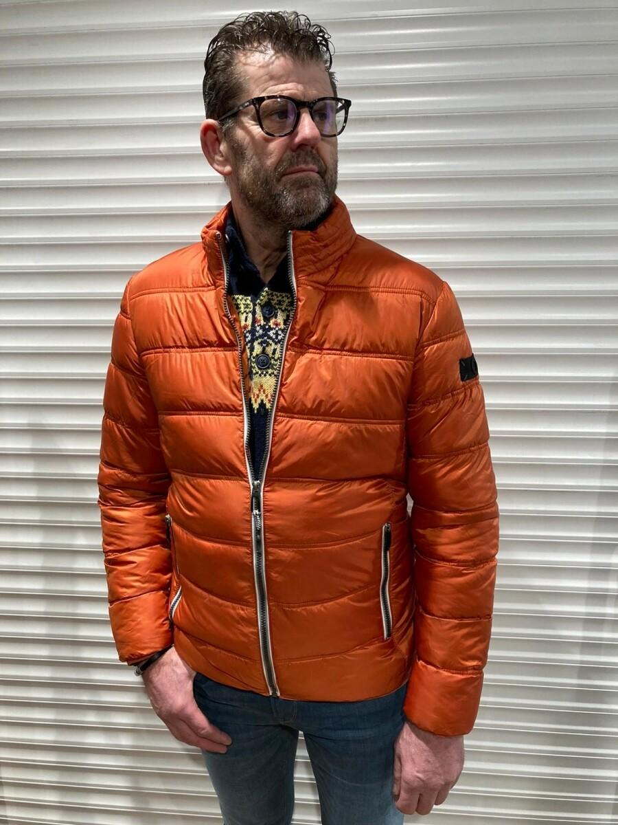 Doorgestikt jack 61-000-15 oranje