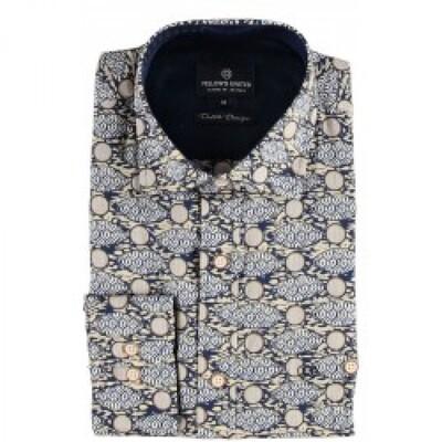 Fellows shirt 02.6540-110 navy