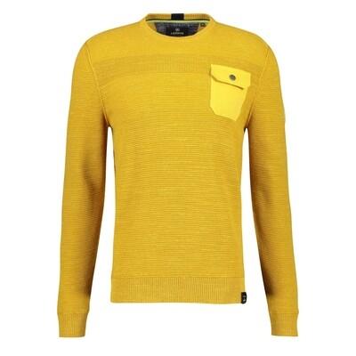 Lerros katoenen trui 2085015-526 yellow
