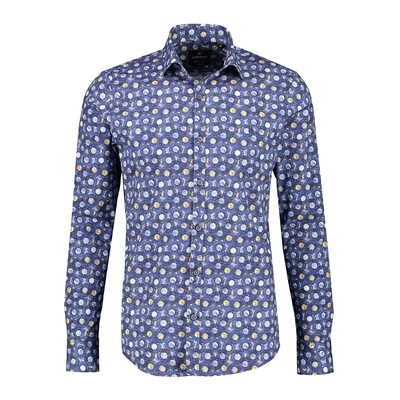 Lerros shirt 2091359-473 blue