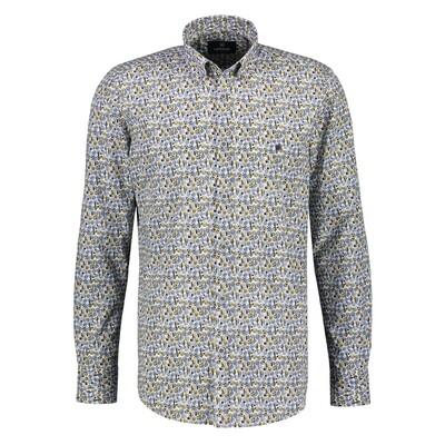 Lerros shirt yellow dots 2081156-520