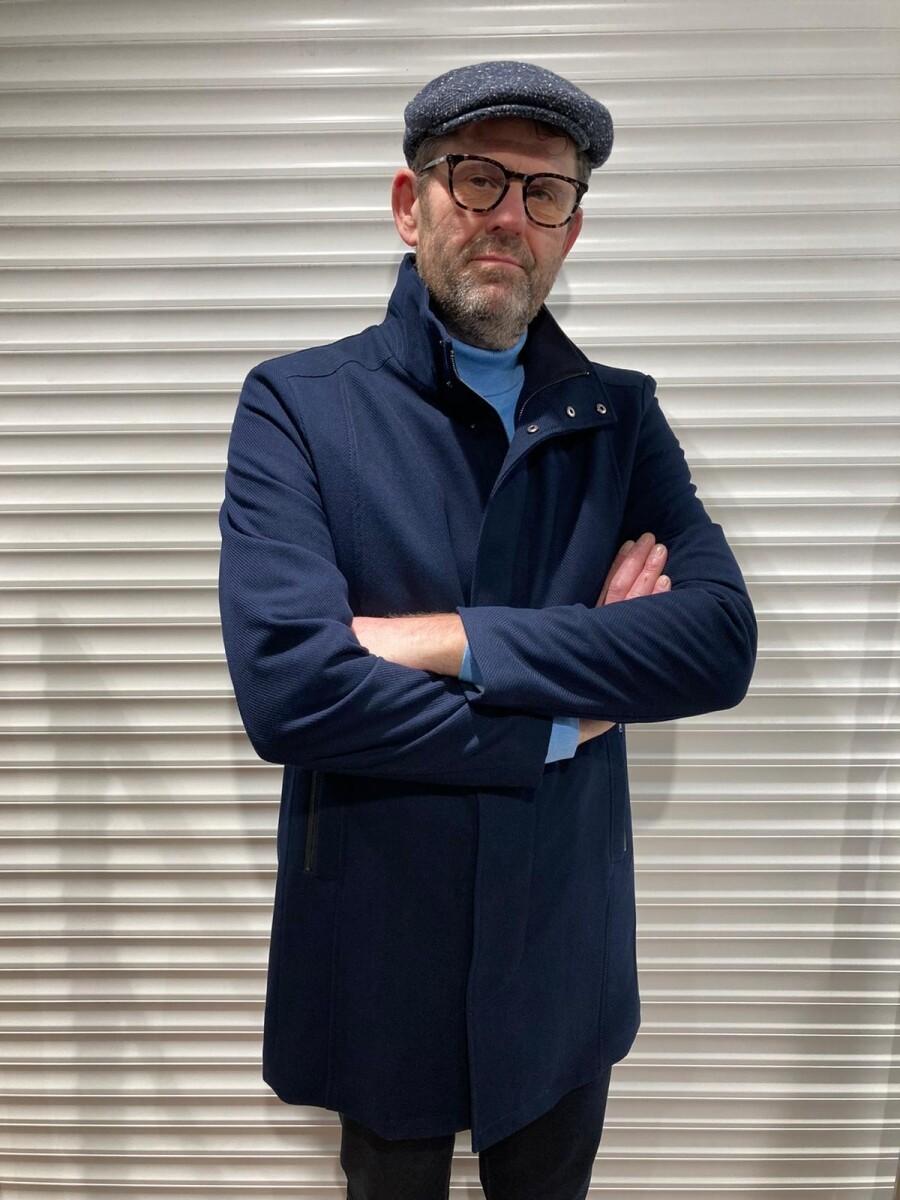 Coat Bussem donker blauw