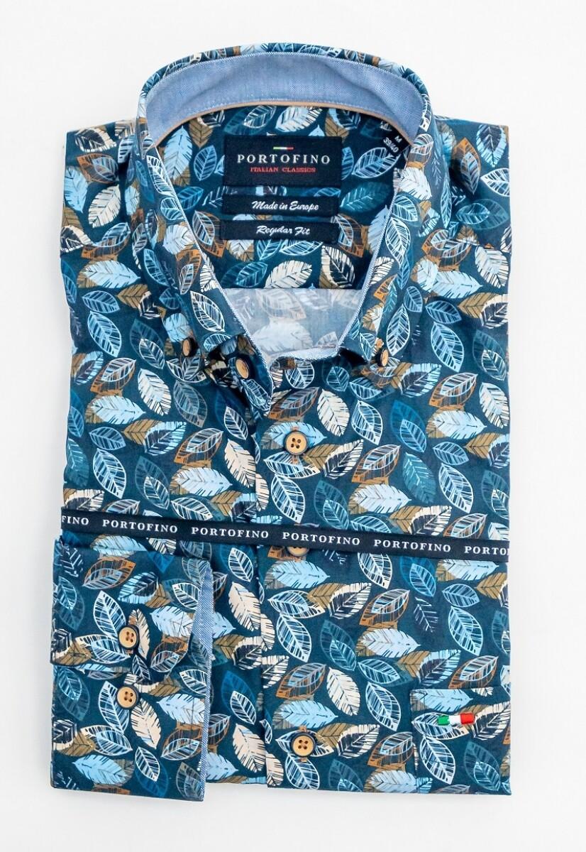 Portofino shirt lange mouw blauw