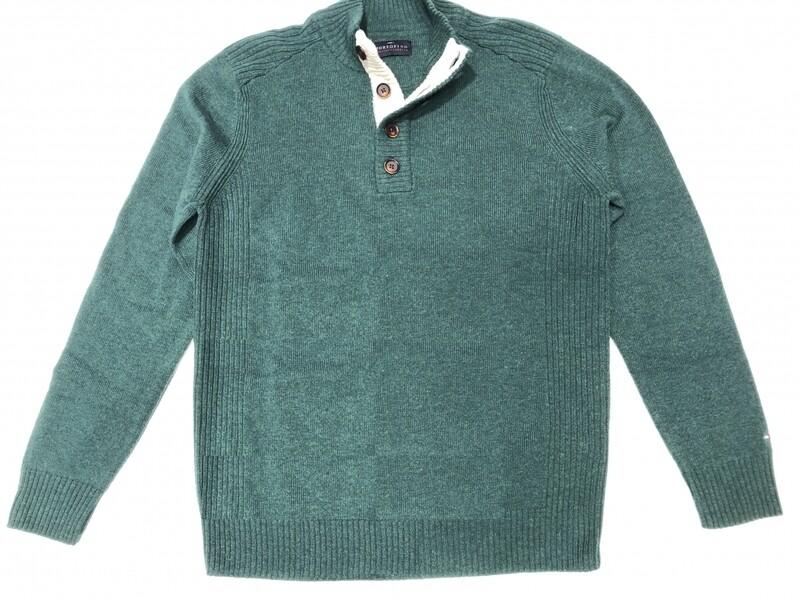 Portofino trui met knopen 2084PRTF02-5 groen