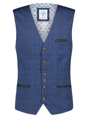 A Fish Named Fred gilet 22.01.154 Solid Blue print