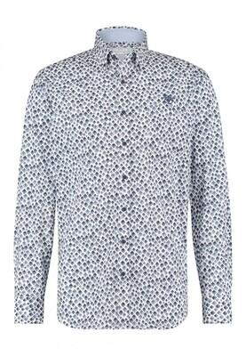 Bluefields shirt 21431018 donkerblauw