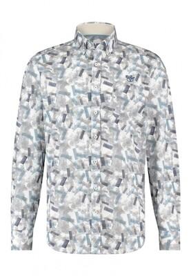 Bluefields shirt 21431016 grijsblauw