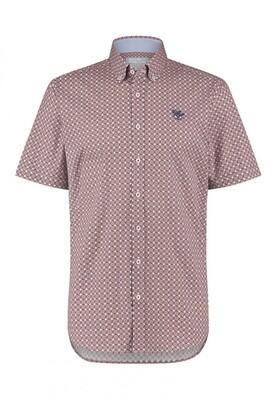 Bluefields shirt 26431010 wijnrood