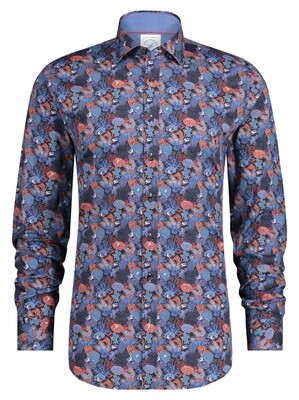 A Fish Named Fred shirt 23.01.007 Blue multicolour