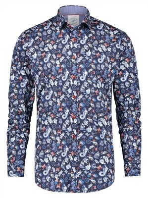 A Fish Named Fred shirt 23.01.018 Blue