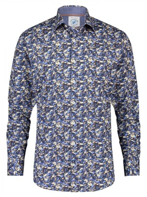 A Fish Named Fred shirt 23.01.012 Navy blue
