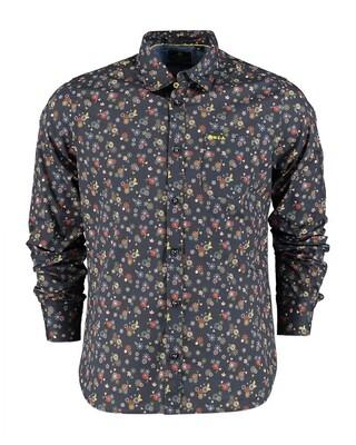 NZA shirt 21GN573 GREEN MULTICOLOUR