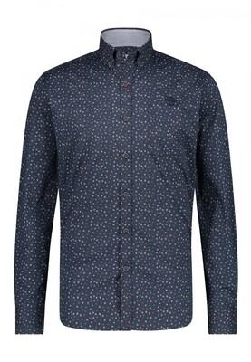 Bluefields shirt 21441002 donkerblauw