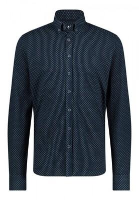 Bluefields shirt 21441005 donkerblauw
