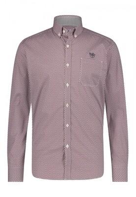 Bluefields shirt 21441006 wijnrood