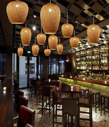 Handmade Woven Lighting For Commercial & Home