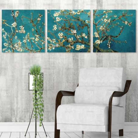 Root Flowers Art - 3pcs