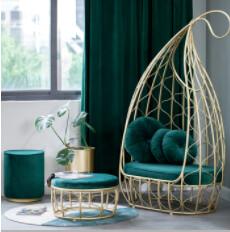 Custom Made Flamingo Chair with stool
