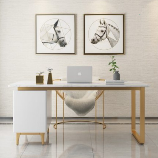 Custom Made Luxury Marble Work Desk