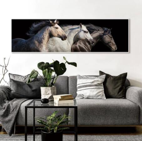 Black Stallion White Horse Art