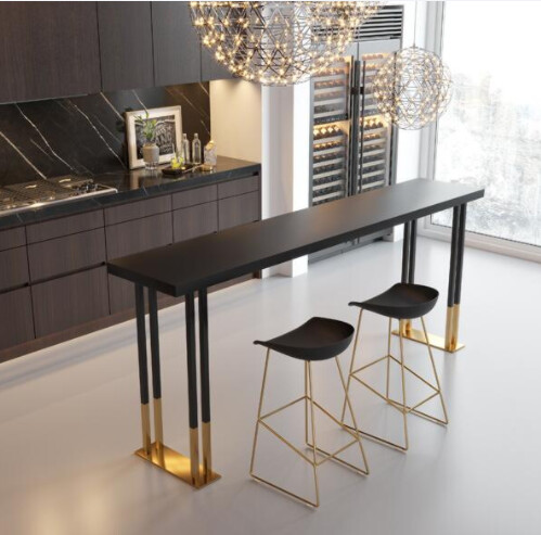 Custom Made Gold Plated Metal Frame Table