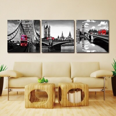 Vintage Bridge Series Art Retro - 3pcs