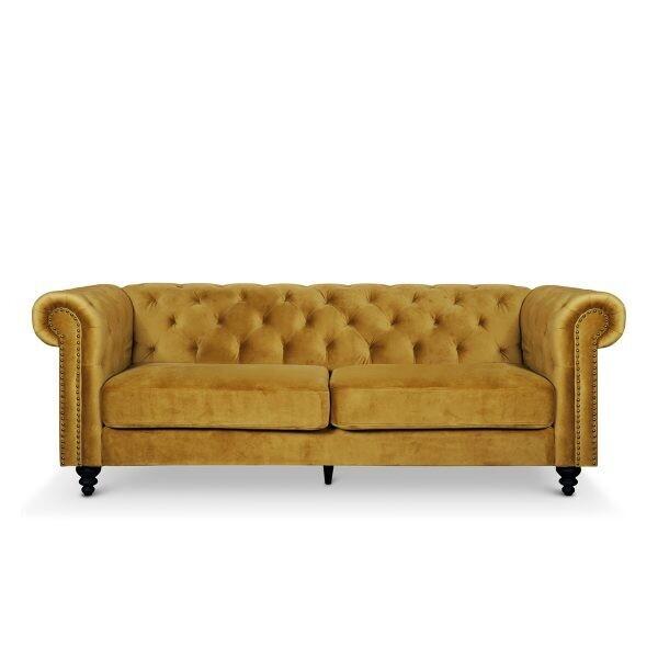 Custom Made Velvet Chesterfield Sofa
