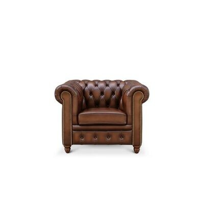 Custom Made Leather Chesterfield - Single Seat