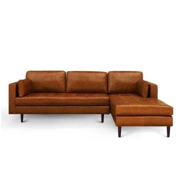 Custom Made Cranyac Leather L Shape Sofa