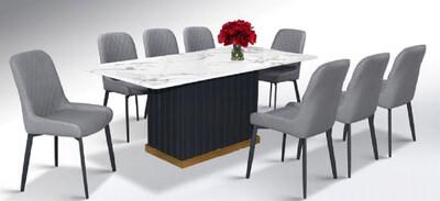 Custom Made Crotsy Marble Dining Set