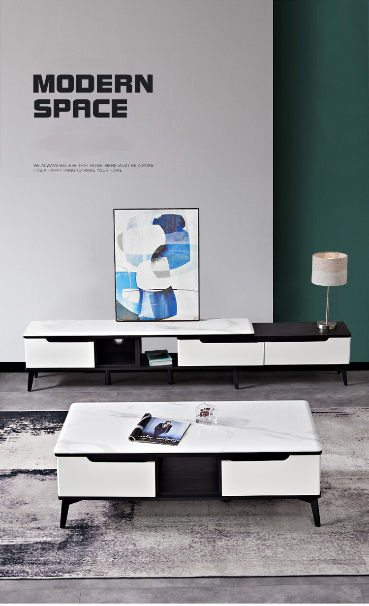 Custom Made Quad TV Panel & Coffee Table (Set)