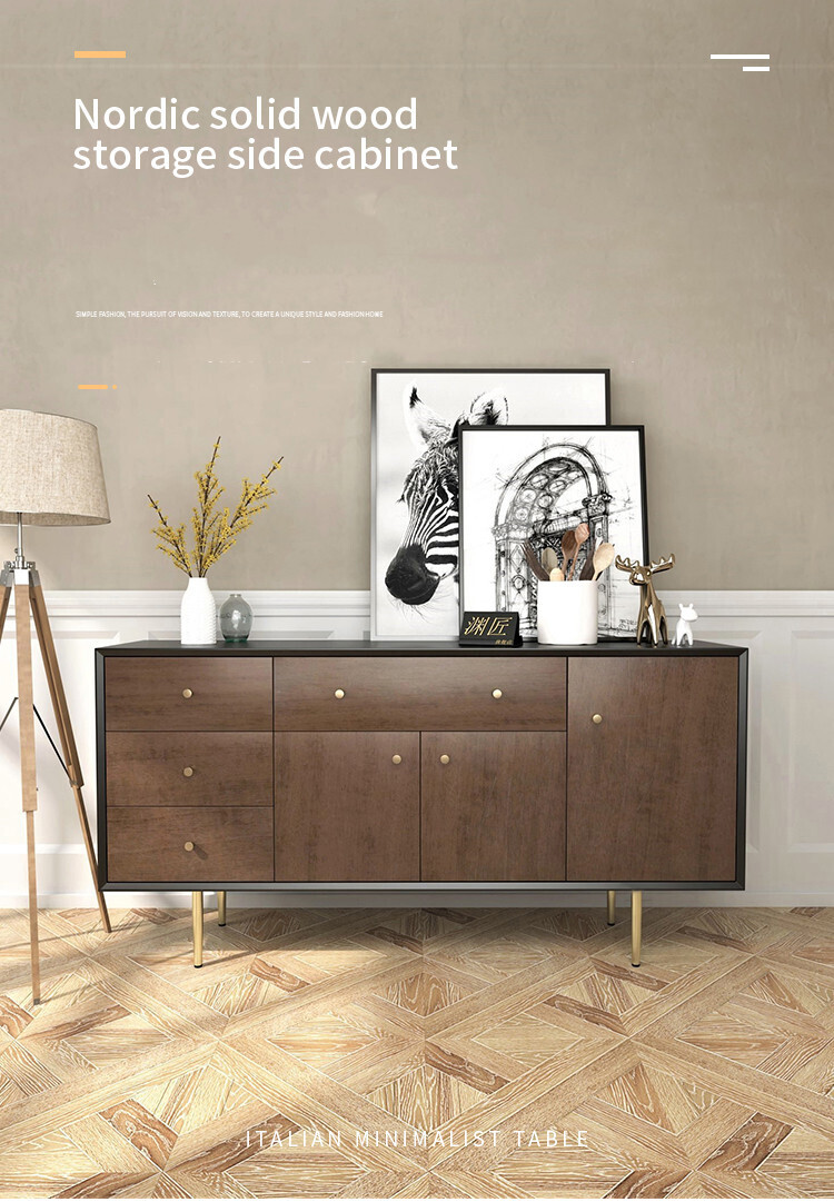 Custom Made Nordic Storage Side Cabinet