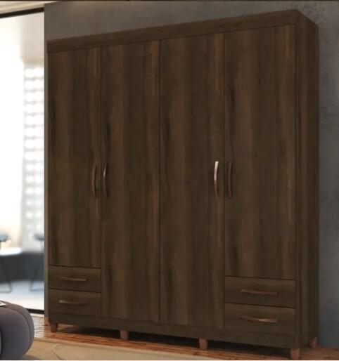 Custom Made Sorenia Wooden Wardrobe