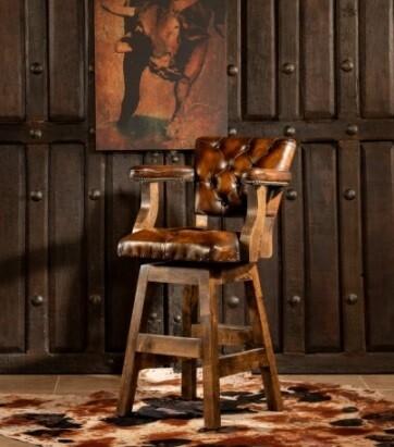 Custom Made Antique Barstool