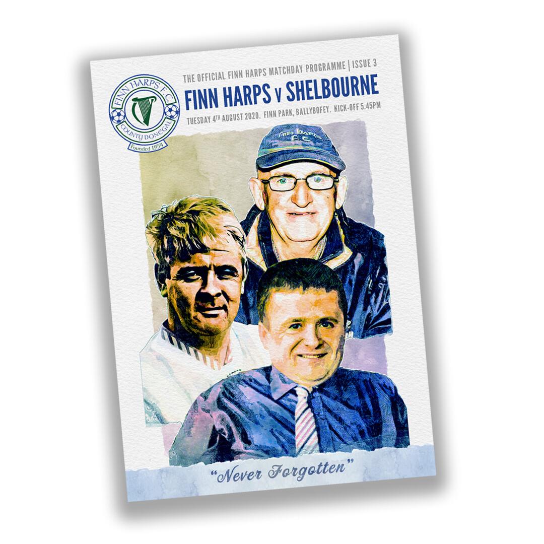 Issue 3 2020, Finn Harps v Shelbourne Programme