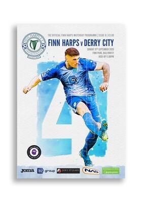 Issue 6 2020, Finn Harps v Derry City Programme