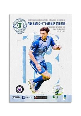 Issue 8 2020, Finn Harps v St Patrick's Athletic Programme
