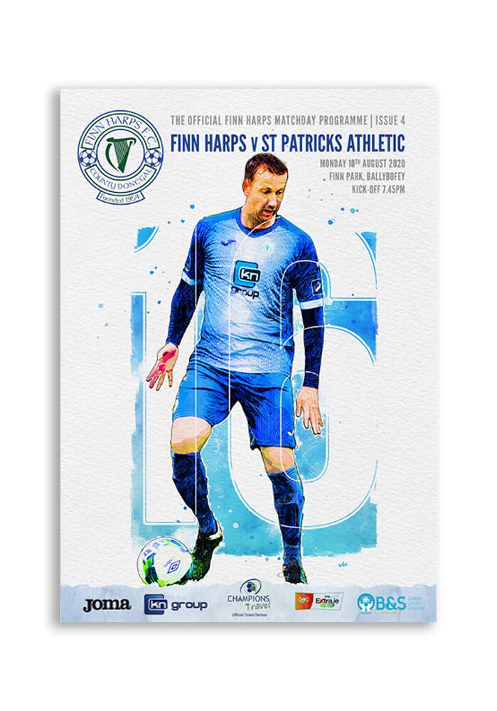 Issue 4 2020, Finn Harps v St Patrick's Athletic Programme