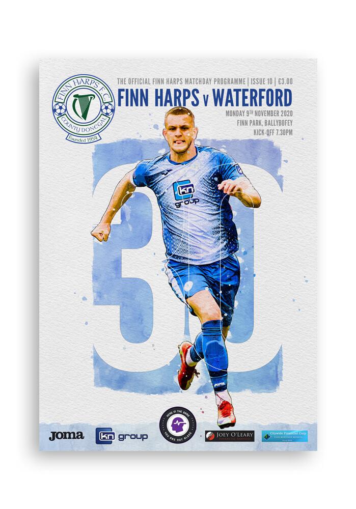 Issue 10 2020, Finn Harps v Waterford Programme