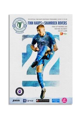 Issue 11 2020, Finn Harps v Shamrock Rovers Programme