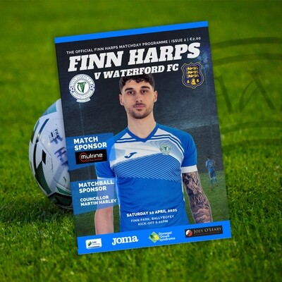 Issue 2 2021, Finn Harps v Waterford FC Programme