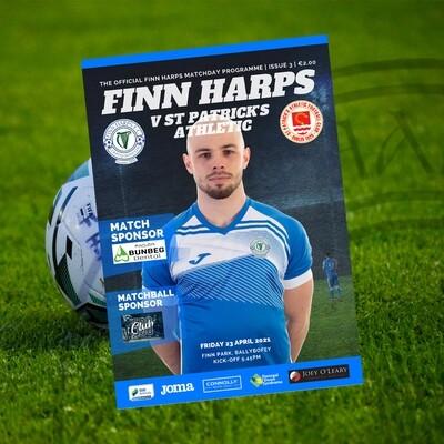 Issue 3 2021, Finn Harps v St Patrick's Athletic FC Programme
