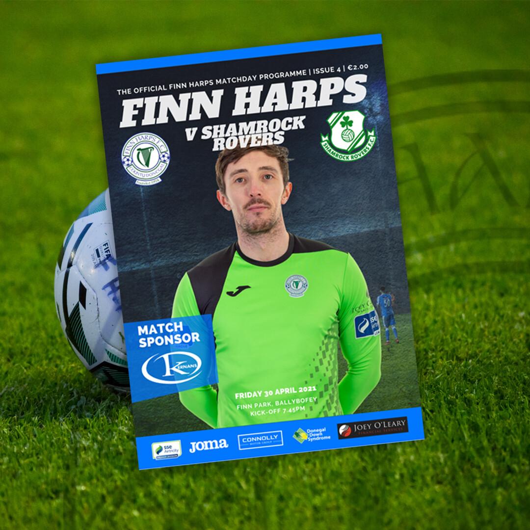 Issue 4 2021, Finn Harps v Shamrock Rovers Programme