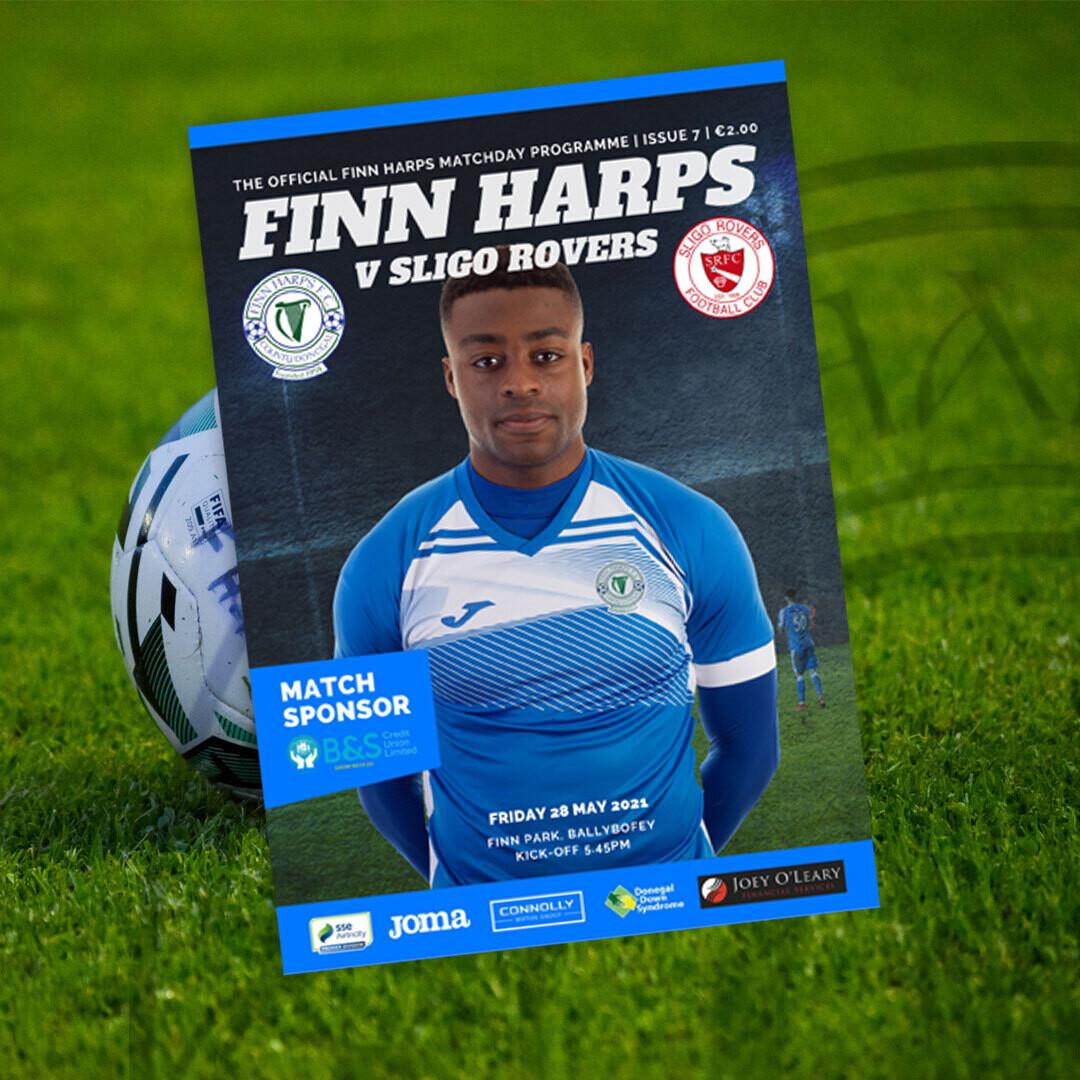Issue 7 2021, Finn Harps v Sligo Rovers Programme