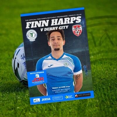 PRINT VERSION Issue 8 2021, Finn Harps v Derry City Programme