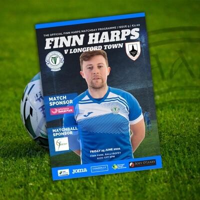 Issue 9 2021, Finn Harps v Longford Town Programme