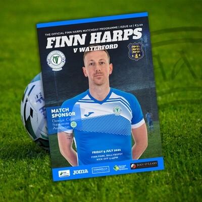 Issue 10 2021, Finn Harps v Waterford FC Programme