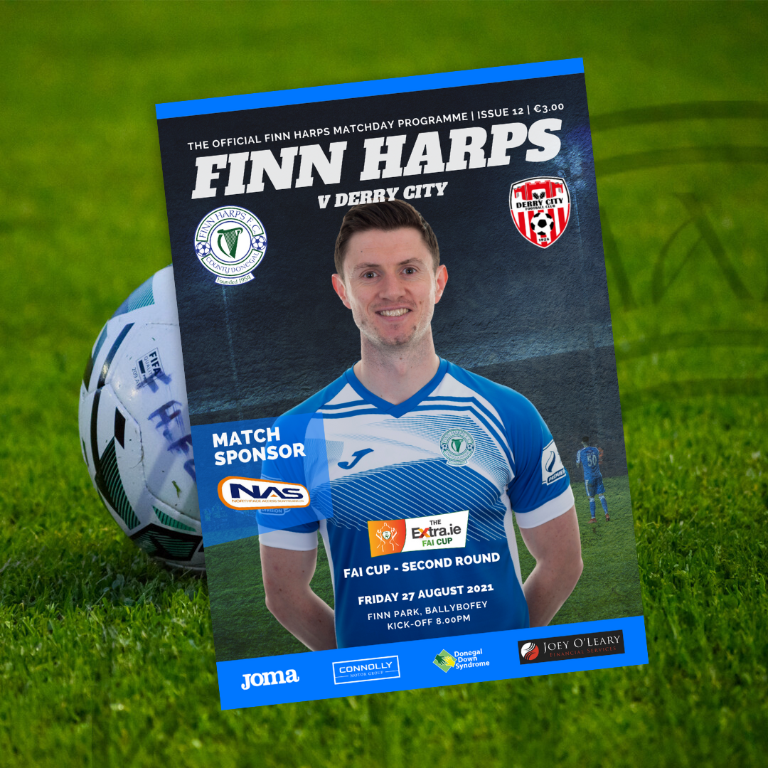 Issue 12 2021, Finn Harps v Derry City FAI Cup 2nd Round Programme