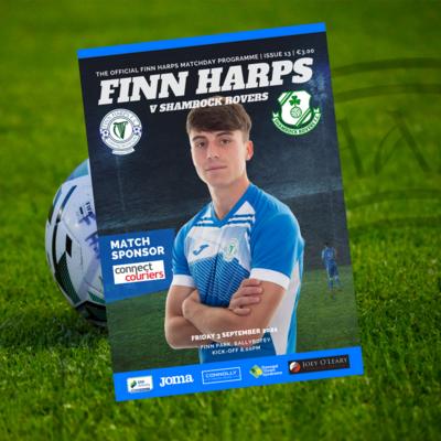 Issue 13 2021, Finn Harps v Shamrock Rovers Programme